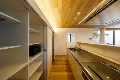 haus-flow キッチン (haus-flow/地域のオアシスとしての平屋中庭付き住宅)