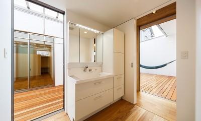haus-flow/地域のオアシスとしての平屋中庭付き住宅 (haus-flow 洗面室)