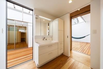 haus-flow 洗面室 (haus-flow/地域のオアシスとしての平屋中庭付き住宅)