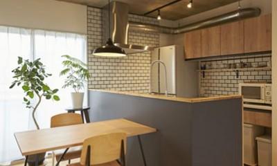 躯体を活かしたソリッドな空間。建築家夫妻が描く理想の住まい。 (キッチン)
