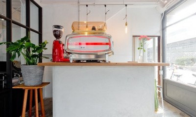既存を活かしたビルまるごと一棟ビンテージリノベーション (カウンターキッチン)