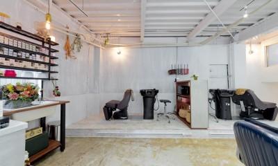 既存を活かしたビルまるごと一棟ビンテージリノベーション (美容院)