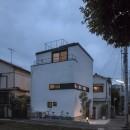 ハコノオウチ10 大窓の家の写真 外観夜景
