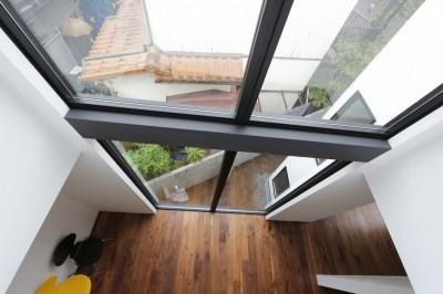 ハコノオウチ10 大窓の家 (吹抜からの見下ろし)