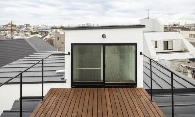 屋上バルコニー|ハコノオウチ10 大窓の家