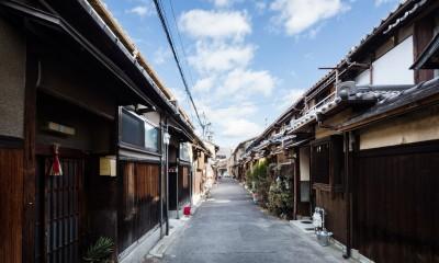 外観|昭和小路の長屋|賃貸向け京町家のシンプルリノベーション【京都市】