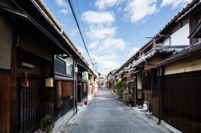 昭和小路の長屋|賃貸向け京町家のシンプルリノベーション【京都市】 (外観)