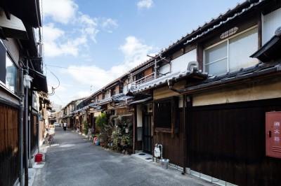 外観 (昭和小路の長屋|賃貸向け京町家のシンプルリノベーション【京都市】)