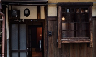 玄関|昭和小路の長屋|賃貸向け京町家のシンプルリノベーション【京都市】