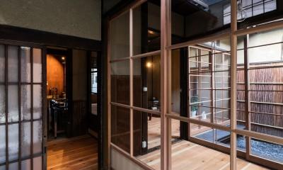 玄関土間|昭和小路の長屋|賃貸向け京町家のシンプルリノベーション【京都市】