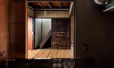 キッチン|昭和小路の長屋|賃貸向け京町家のシンプルリノベーション【京都市】