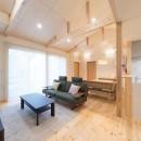 八木建設の住宅事例「犬と暮らす木が香る平屋住宅」