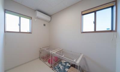犬と暮らす木が香る平屋住宅 (犬のお部屋)