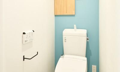 ミントグリーンの木漏れ日ハウス (トイレ)