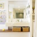 S邸-風と光がまわるリバーサイドの家の写真 洗面所