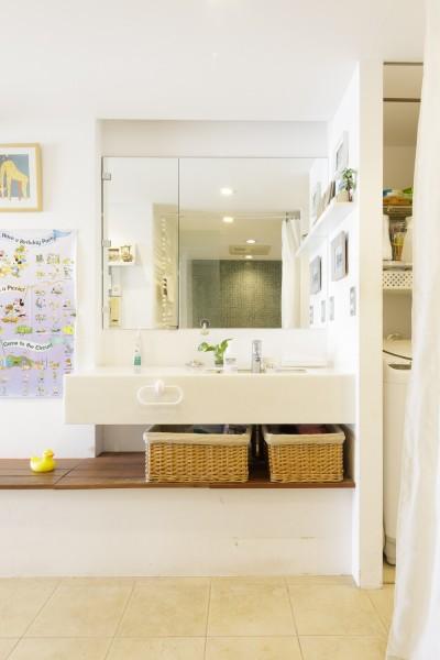 洗面所 (S邸-風と光がまわるリバーサイドの家)