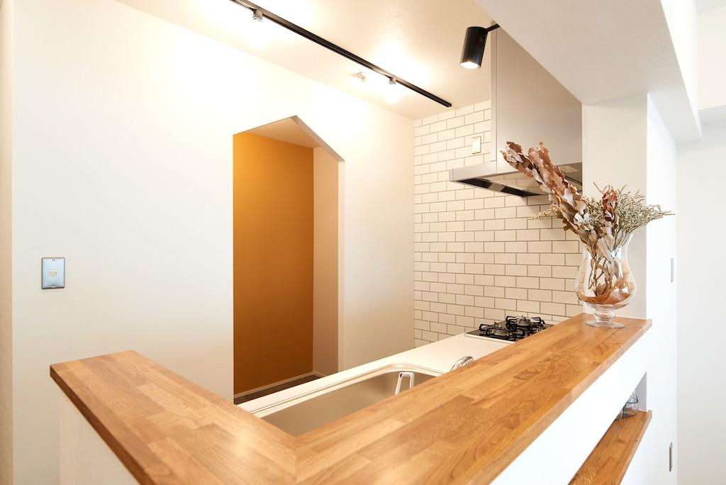 キッチン事例:キッチン(温もり溢れるとんがりのお家)