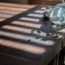 趣味で埋め尽くした2人くらしの写真 古材のテーブル