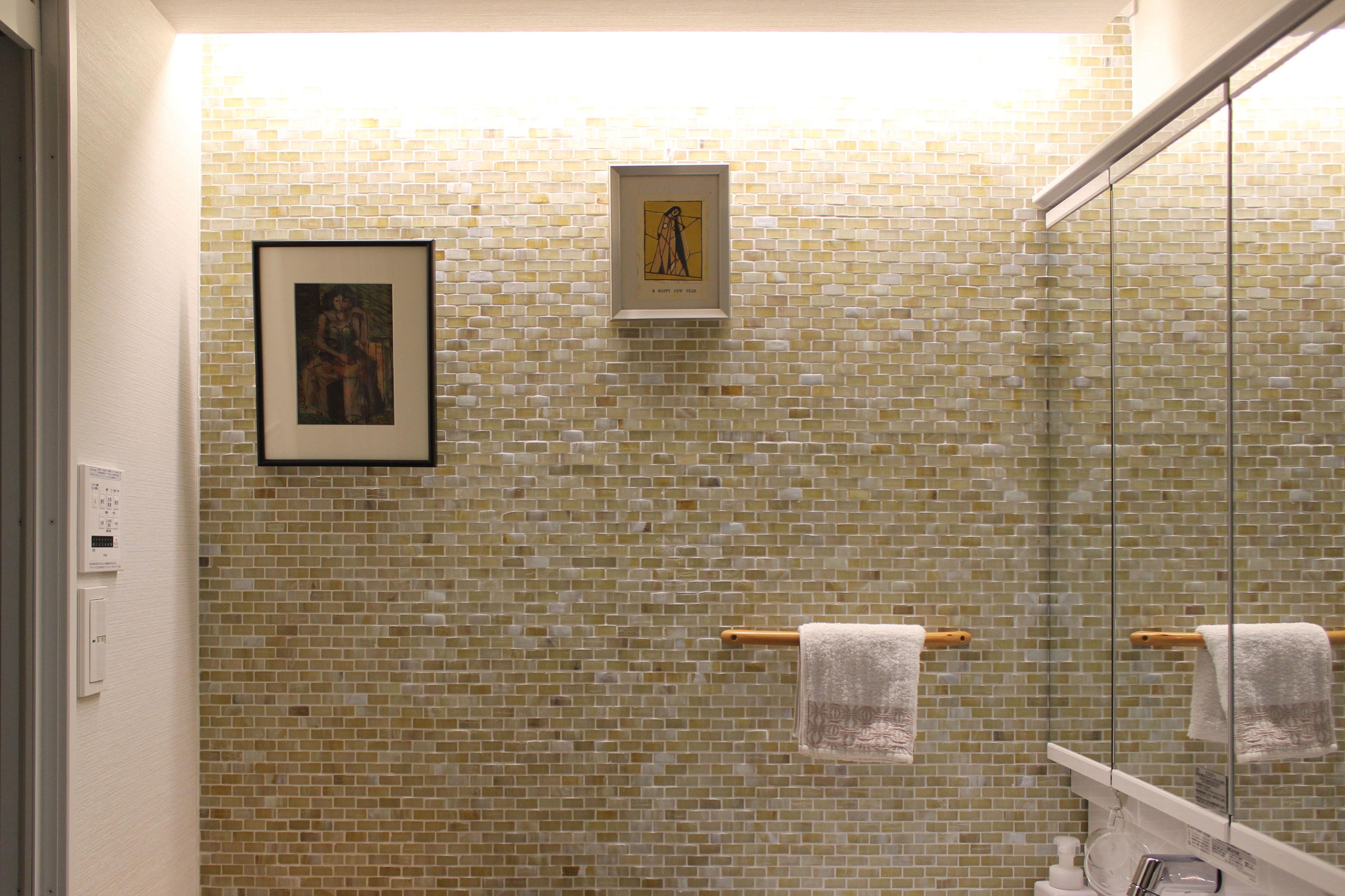 バス/トイレ事例:洗面室(around the piping【水周りに絞ったリノベーション】)