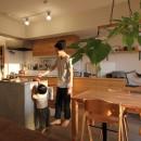 スモーキーな色使い(上井草マンションリノベーション)の写真 ダイニングキッチン