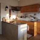 スモーキーな色使い(上井草マンションリノベーション)の写真 キッチン