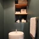 スモーキーな色使い(上井草マンションリノベーション)の写真 トイレ