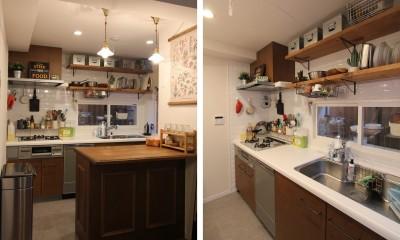 キッチン|木と黒ないえ