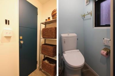 トイレ (木と黒ないえ)