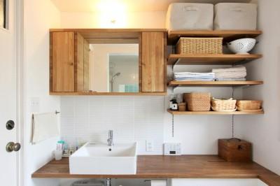 洗面室 (富士見台 団地リノベーション)