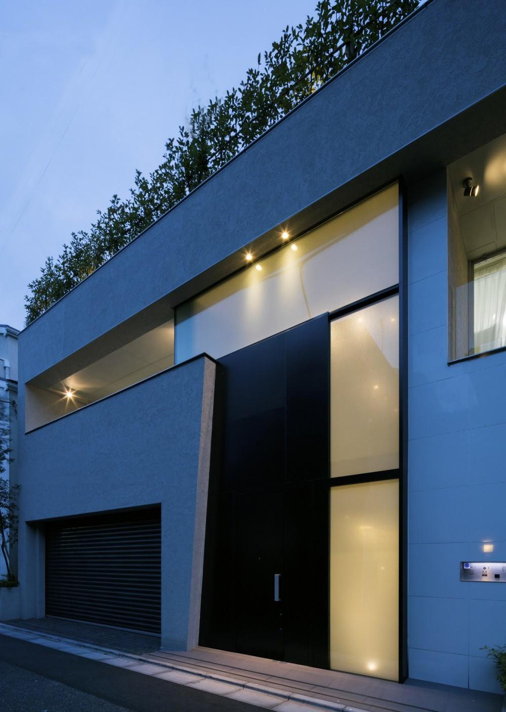 高輪台の家、こだわりの施主と作り上げたバーカウンターのある大型住まい (外観)