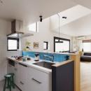 遊び心とこだわりでワクワクがいっぱいの家の写真 キッチン