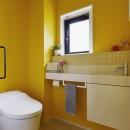 遊び心とこだわりでワクワクがいっぱいの家の写真 トイレ