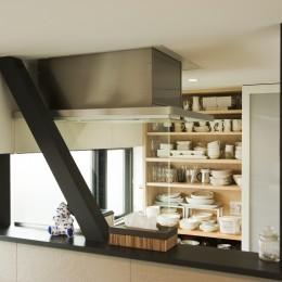 大収納狭小住宅 ハコノオウチ07 (キッチン背面収納)