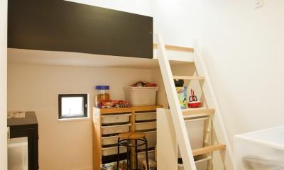 子供室|大収納狭小住宅 ハコノオウチ07