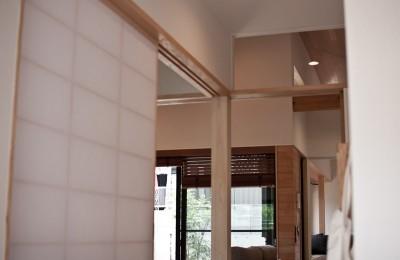 IThouse (玄関から居室を見ています)