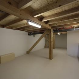大収納狭小住宅 ハコノオウチ07 (8畳半ある中間階納戸)
