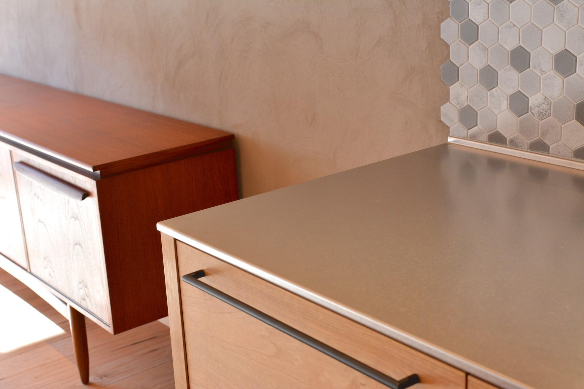 キッチン事例:キッチンステンレス天板(Nさんの家)