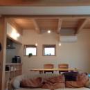 さくら 〜薪ストーブのある木の家〜の写真 リビングダイニング