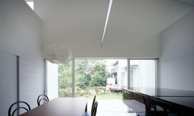 東大宮の家-趣味を楽しむためのモダンな住空間 (メインダイニング)