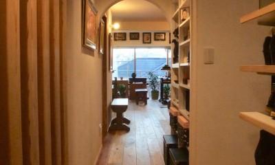 玄関ホールからリビング02|Edelweiss renovation 〜 ふたり暮らしのリノベーション 〜