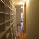 Edelweiss renovation 〜 ふたり暮らしのリノベーション 〜の写真 パントリー的壁面収納のある小道02