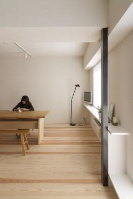 百合ヶ丘の家-ライフスタイルに合わせたひと続きの空間 (リビング・ダイニング)