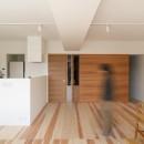 百合ヶ丘の家-ライフスタイルに合わせたひと続きの空間の写真 リビング・ダイニング・キッチン
