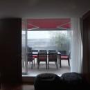 典雅さを目指した広尾の住まい RCビシャン仕上げの外観 シノワズリのインテリア空間の写真 屋上バルコニー