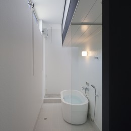 ハコノオウチ03 スモールオフィスのある家 (置きバスのある浴室)