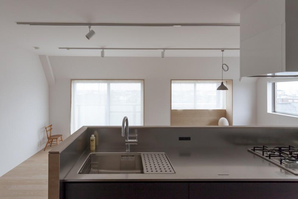西荻の家-眺望と回遊性のある住まい (キッチン)