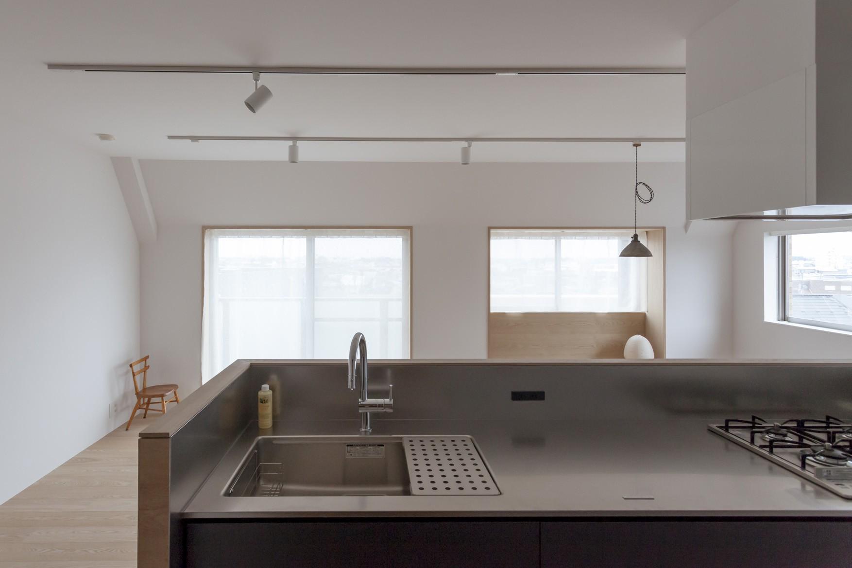 キッチン事例:キッチン(西荻の家-眺望と回遊性のある住まい)