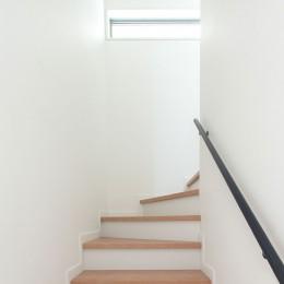 高島平の家-敷地形状を活かした伸びやかな住空間 (階段室)