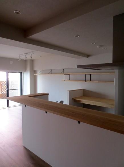 大井町の家-新たな生活に合わせた間仕切壁の更新 (リビング・ダイニング・キッチン)
