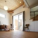HomeSideの住宅事例「崖地に建つシンプルな家」